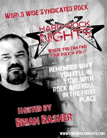 Hard Rock Nights with Brian Basher Fridays at 6 pm (est)